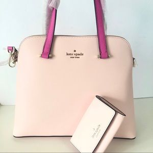 NWT Kate Spade Maise Purse Wallet Bundle Set Peach